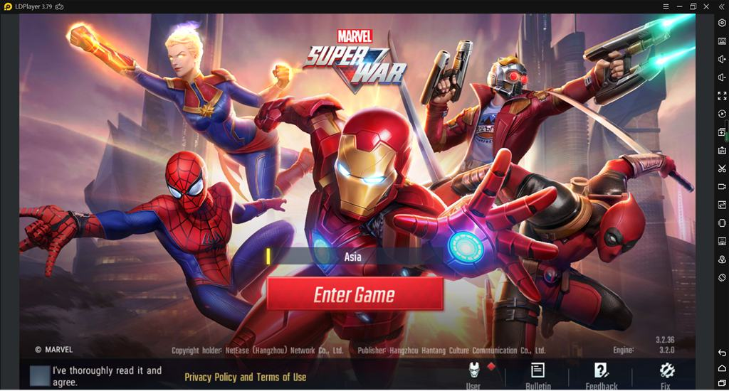 Play Marvel Super War on PC