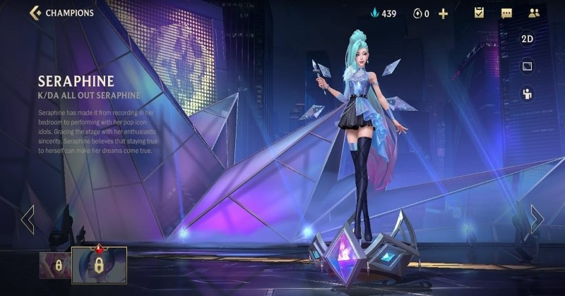 KDA All Out Seraphine Skin