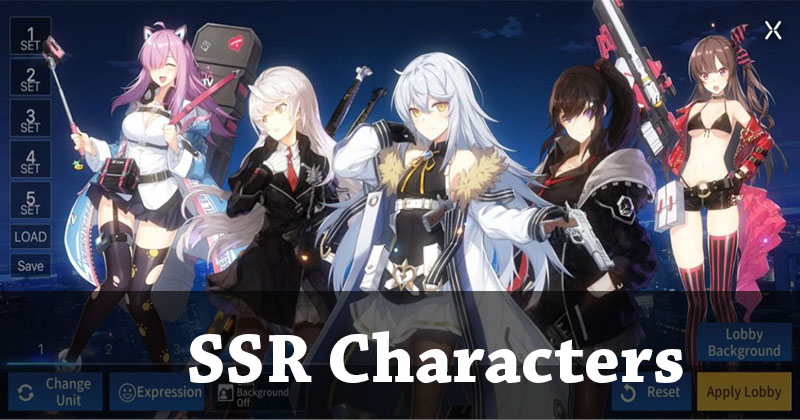 SSR Recommended Characters and the best unit for the PVP and PVE team