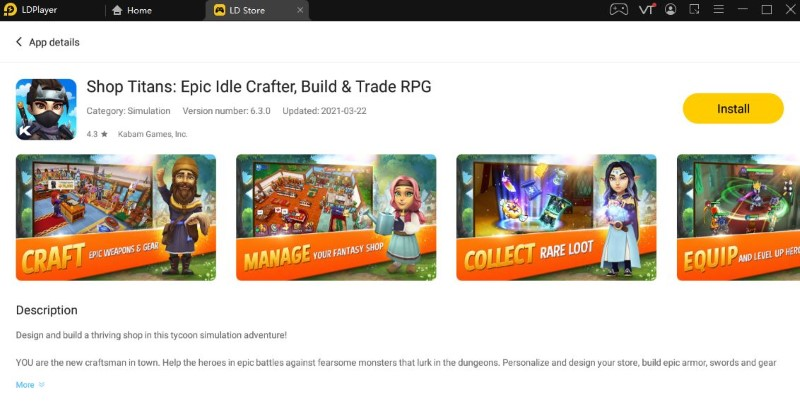 Best Android Emulator For Shop Titans PC