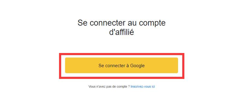 Se connecter à Google