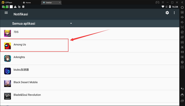 Matikan notifikasi pada LDPlayer Anda untuk mengurangi penggunaan CPU