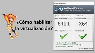 ¿Cómo habilitar la virtualización (VT) en PC?
